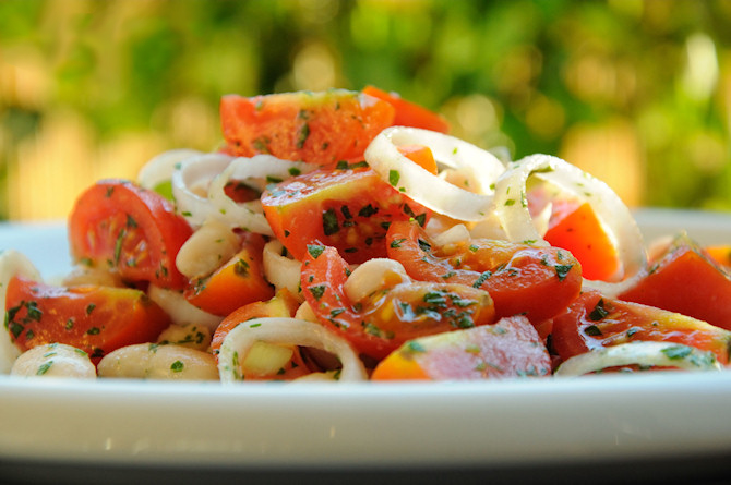 Beans and Tomato Salad
