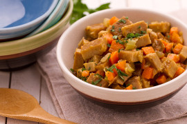 Seitan Stew with Vegetables