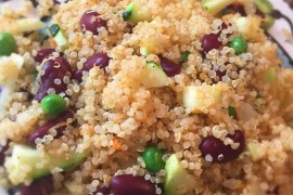 A quick and flavorful quinoa dish that is perfect as a side dish or as a meal.