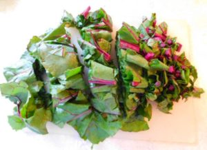 Chopped beet greens