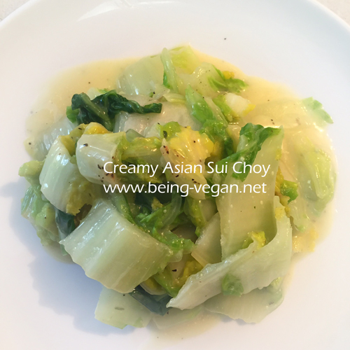 Creamy Vegan Chinese Cabbage