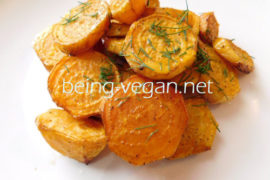 Roasted Golden Beets with Dill