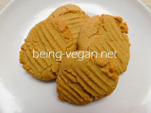 Easy vegan peanut cookies